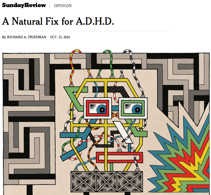 A Natural Fix for A.D.H.D. Article on The New York Times